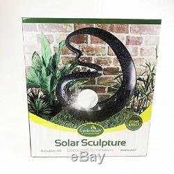 Solar Powered Ball Sculpture Light Garden Lawn White Led Ornament Table New