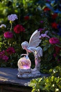 Solar Powered Color-Changing LED Standing Pixie Fairy Garden Decoration Decor