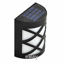 Solar Powered Fence Lights Step Door Wall Bright 6 Led Lights Garden Outdoor New