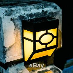 Solar Powered Garden Fence Lights 7 Colour Changing Outdoor LED Wall Night Light