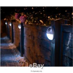 Solar Powered Led Garden Fence Lights Wall Patio Door Decking Outdoor Lighting