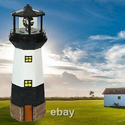 Solar Powered Rotating LED Garden Lighthouse Patio Light LARGE