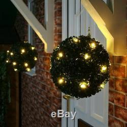 Solar Powered Topiary Garden Ball Lights 28 cm Radius 20 Fitted Led Lights