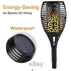 Solar Torch Flicker Dancing Flame 96 LED Lamp Light Power Garden Tiki Path Night