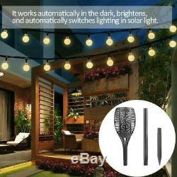 Solar Torch Light 33 LED Flackernde Beleuchtung Dancing Garden Lamp Flame I2G7