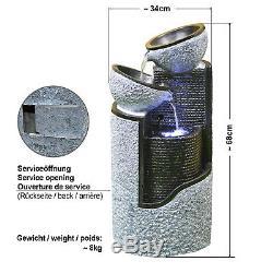 Solar Water Fountain Feature Garden Pond Pump Kit Solar Powered Led Light Column