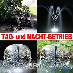 Solar Water Fountain Garden Feature Pond Pump Kit Submersible Solar Powered Kit