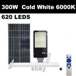 Solar panel LED street light system garden road outdoor outside waterproof lamp