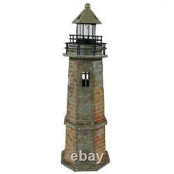 Sunnydaze Outdoor Patio/Garden Solar LED Nautical Lighthouse Statue Decor 35