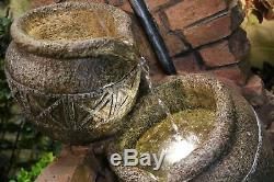 Tap and Jugs Traditional Water Feature, garden fountain, solar power with led