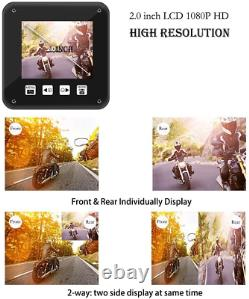 VSYSTO Motorcycle Camera Motorcycle Dash Cam 1080P Dual Lens Motorbike Camera