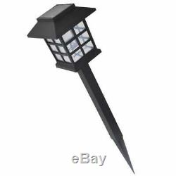 VidaXL 12x Outdoor Solar Lamp Post 8.6x8.6x38cm Garden Patio LED Light Spike