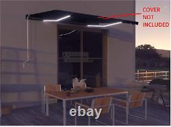 VidaXL Garden Outdoor Awning With Solar Panel And LED Strip, With No Cover