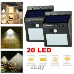 WHOLESALE Job lots 40pcs Small LED Solar Powered Wall Light Outdoor Garden Patio