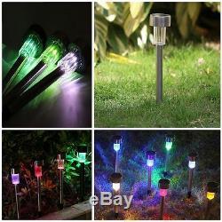 Waterproof Solar Path LED light Lamp For Outdoor Garden Landscape Lighting New