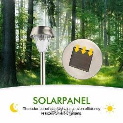 Waterproofs Garden Solar Lights Durable Stainless LED Warm White Energy Lighting